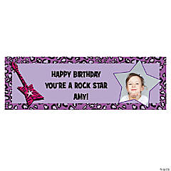 Small Rock Star Diva Custom Photo Banner