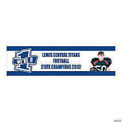 Blue Team Spirit Custom Photo Banner