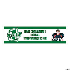 Green Team Spirit Custom Photo Banner