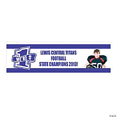 Purple Team Spirit Custom Photo Banner