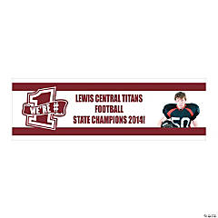 Burgundy Team Spirit Custom Photo Banner