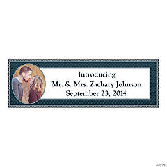 Nautical Wedding Small Custom Photo Banner