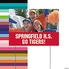 Red Team Spirit Custom Photo Yard Sign