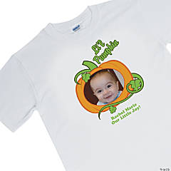 """Li'l Pumpkin"" Adult Medium Custom Photo T-Shirt"