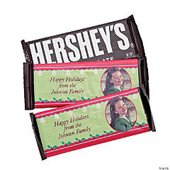 Christmas Custom Photo Wrapped Hershey's Bar