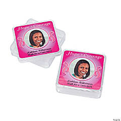 Pink Awareness Custom Photo Square Containers
