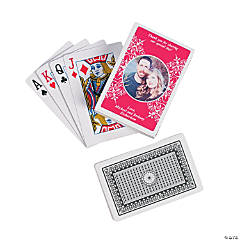 Red Custom Photo Playing Cards