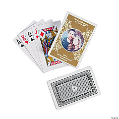 Gold Custom Photo Playing Cards