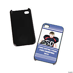 Team Spirit Custom Photo Black iPhone® 4/4S Case - Blue