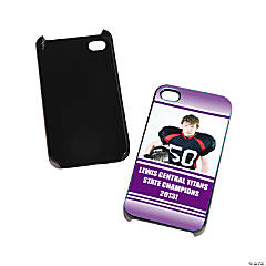 Team Spirit Custom Photo Black iPhone® 4/4S Case - Purple