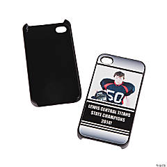 Team Spirit Custom Photo Black iPhone® 4/4S Case - White