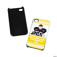 Team Spirit Custom Photo Black iPhone® 4/4S Case - Yellow