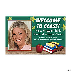 """Welcome Back to Class!"" Custom Photo Class Magnets"