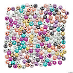 Mulitcolor Glitter Round Beads - 4mm