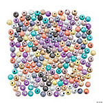Multicolor Glitter Round Beads - 6mm