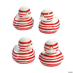 Candy Cane-Striped Rubber Duckies