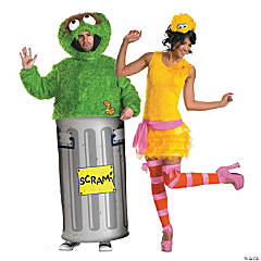 Oscar The Grouch And Big Bird Couple Costumes