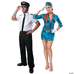 Pilot & Flight Attendant Couples Costumes