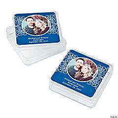 Blue Custom Photo Square Containers