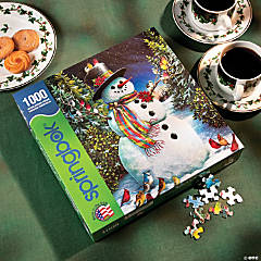Feathered Friends Holiday Snowman Puzzle