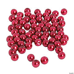 Red Pearl Beads - 8mm
