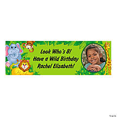 Personalized Zoo Animal Photo Banner
