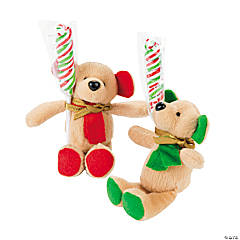 Plush Holiday Bears with Candy