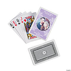 Lilac Custom Photo Playing Cards