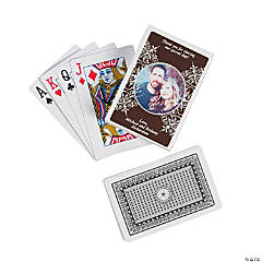 Chocolate Brown Custom Photo Playing Cards
