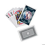 Navy Blue Custom Photo Playing Cards