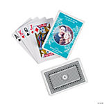 Turquoise Custom Photo Playing Cards