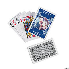 Blue Custom Photo Playing Cards