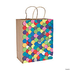 Multicolor Scales Brown Bag