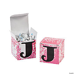 DIY Monogram Small Gift Box Idea