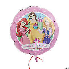 Disney Princess 1st Birthday Mylar Balloon