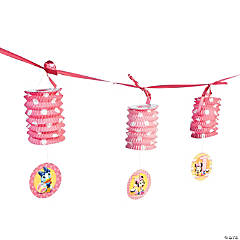 Minnie Mouse 1st Birthday Lantern Garland
