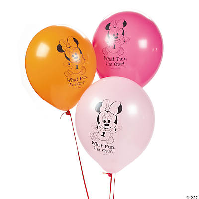 Minnie Mouse's 1st Birthday Latex Balloons
