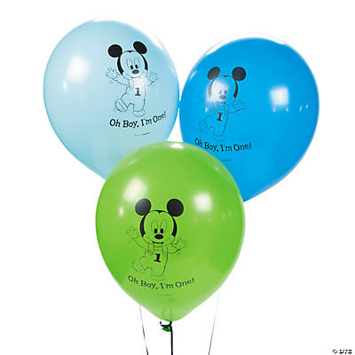 Mickey Mouse's 1st Birthday Latex Balloons