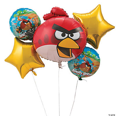 Mylar Angry Birds Balloon Bouquet