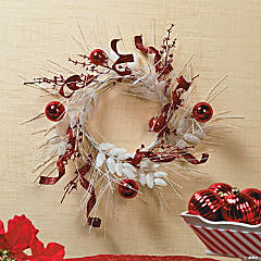 Red & White Icicle Wreath