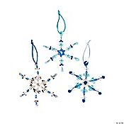 Beaded Snowflake Christmas Ornament Craft Kit