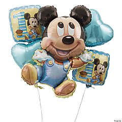Mickey Mouse 1st Birthday Mylar Balloon Bouquet