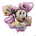 Minnie Mouse 1st Birthday Mylar Balloon Bouquet