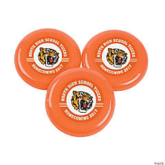 Orange Team Spirit Custom Photo Mini Flying Disks