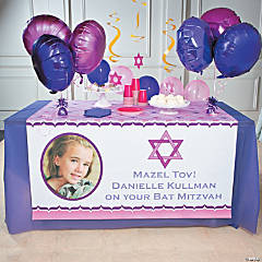 Personalized Bat Mitzvah Photo Table Runner