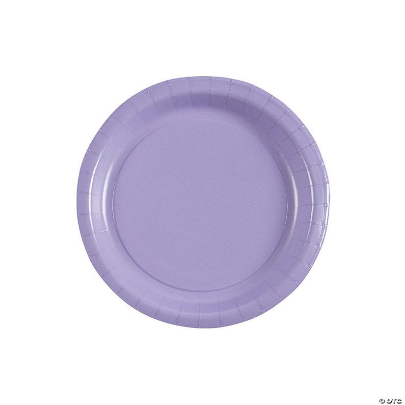 sc 1 st  Oriental Trading & Lavender Round Paper Dessert Plates