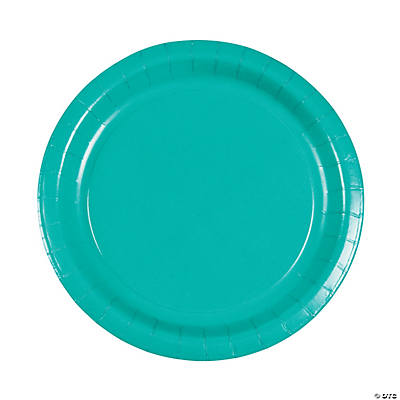 Tropical Teal Dinner Plates