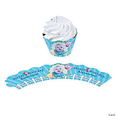 1st Birthday Farm Custom Photo Cupcake Wrappers