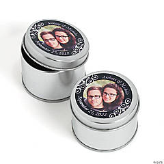 Custom Photo Black Metal Containers