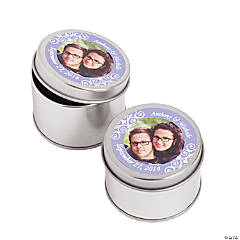 Custom Photo Lilac Photo Metal Containers